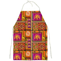 Traditional Africa Border Wallpaper Pattern Colored 3 Full Print Aprons