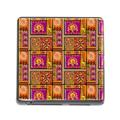 Traditional Africa Border Wallpaper Pattern Colored 3 Memory Card Reader (square 5 Slot)
