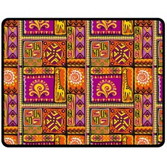 Traditional Africa Border Wallpaper Pattern Colored 3 Fleece Blanket (medium)