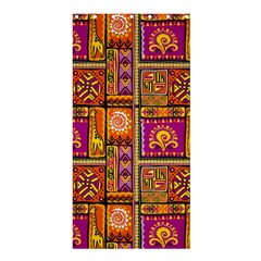 Traditional Africa Border Wallpaper Pattern Colored 3 Shower Curtain 36  X 72  (stall)