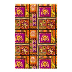 Traditional Africa Border Wallpaper Pattern Colored 3 Shower Curtain 48  X 72  (small)