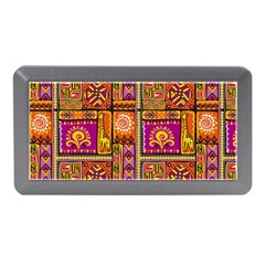 Traditional Africa Border Wallpaper Pattern Colored 3 Memory Card Reader (mini)