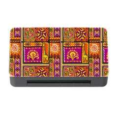 Traditional Africa Border Wallpaper Pattern Colored 3 Memory Card Reader With Cf
