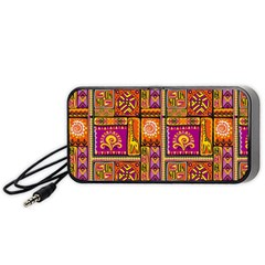 Traditional Africa Border Wallpaper Pattern Colored 3 Portable Speaker