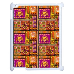 Traditional Africa Border Wallpaper Pattern Colored 3 Apple Ipad 2 Case (white)