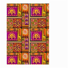 Traditional Africa Border Wallpaper Pattern Colored 3 Small Garden Flag (two Sides)