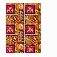 Traditional Africa Border Wallpaper Pattern Colored 3 Large Garden Flag (two Sides) by EDDArt