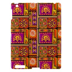 Traditional Africa Border Wallpaper Pattern Colored 3 Apple Ipad 3/4 Hardshell Case