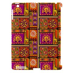 Traditional Africa Border Wallpaper Pattern Colored 3 Apple Ipad 3/4 Hardshell Case (compatible With Smart Cover)