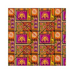 Traditional Africa Border Wallpaper Pattern Colored 3 Acrylic Tangram Puzzle (6  X 6 )