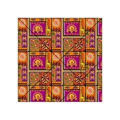 Traditional Africa Border Wallpaper Pattern Colored 3 Acrylic Tangram Puzzle (4  X 4 )