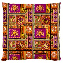Traditional Africa Border Wallpaper Pattern Colored 3 Large Cushion Case (two Sides)