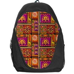 Traditional Africa Border Wallpaper Pattern Colored 3 Backpack Bag