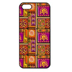 Traditional Africa Border Wallpaper Pattern Colored 3 Apple Iphone 5 Seamless Case (black)