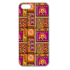Traditional Africa Border Wallpaper Pattern Colored 3 Apple Seamless Iphone 5 Case (clear)