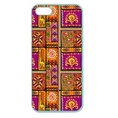 Traditional Africa Border Wallpaper Pattern Colored 3 Apple Seamless Iphone 5 Case (color)