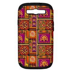 Traditional Africa Border Wallpaper Pattern Colored 3 Samsung Galaxy S Iii Hardshell Case (pc+silicone)