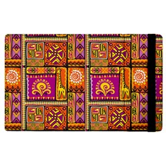 Traditional Africa Border Wallpaper Pattern Colored 3 Apple Ipad 2 Flip Case