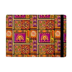 Traditional Africa Border Wallpaper Pattern Colored 3 Apple Ipad Mini Flip Case