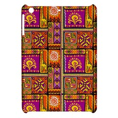 Traditional Africa Border Wallpaper Pattern Colored 3 Apple Ipad Mini Hardshell Case