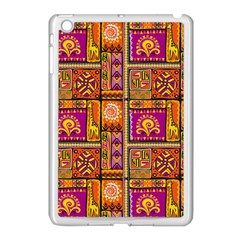 Traditional Africa Border Wallpaper Pattern Colored 3 Apple Ipad Mini Case (white)