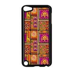 Traditional Africa Border Wallpaper Pattern Colored 3 Apple Ipod Touch 5 Case (black)