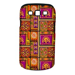 Traditional Africa Border Wallpaper Pattern Colored 3 Samsung Galaxy S Iii Classic Hardshell Case (pc+silicone) by EDDArt