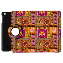 Traditional Africa Border Wallpaper Pattern Colored 3 Apple Ipad Mini Flip 360 Case