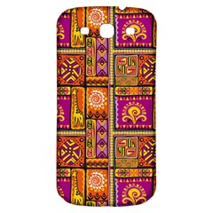 Traditional Africa Border Wallpaper Pattern Colored 3 Samsung Galaxy S3 S Iii Classic Hardshell Back Case by EDDArt