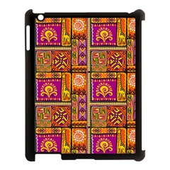 Traditional Africa Border Wallpaper Pattern Colored 3 Apple Ipad 3/4 Case (black) by EDDArt