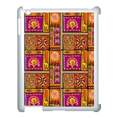 Traditional Africa Border Wallpaper Pattern Colored 3 Apple Ipad 3/4 Case (white) by EDDArt