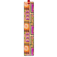Traditional Africa Border Wallpaper Pattern Colored 3 Large Book Marks