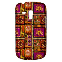Traditional Africa Border Wallpaper Pattern Colored 3 Samsung Galaxy S3 Mini I8190 Hardshell Case