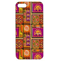 Traditional Africa Border Wallpaper Pattern Colored 3 Apple Iphone 5 Hardshell Case With Stand