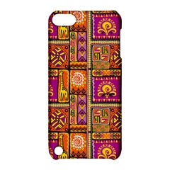 Traditional Africa Border Wallpaper Pattern Colored 3 Apple Ipod Touch 5 Hardshell Case With Stand