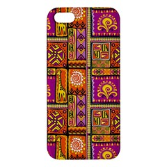 Traditional Africa Border Wallpaper Pattern Colored 3 Apple Iphone 5 Premium Hardshell Case