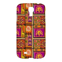 Traditional Africa Border Wallpaper Pattern Colored 3 Samsung Galaxy S4 I9500/i9505 Hardshell Case