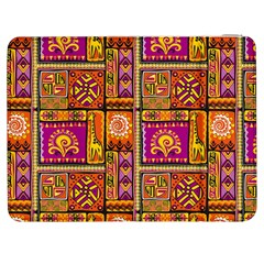 Traditional Africa Border Wallpaper Pattern Colored 3 Samsung Galaxy Tab 7  P1000 Flip Case