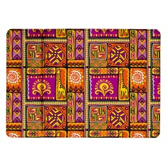 Traditional Africa Border Wallpaper Pattern Colored 3 Samsung Galaxy Tab 10 1  P7500 Flip Case