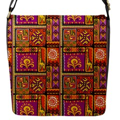 Traditional Africa Border Wallpaper Pattern Colored 3 Flap Messenger Bag (s)