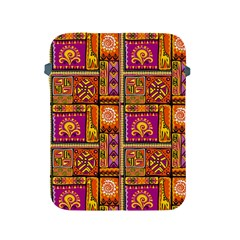 Traditional Africa Border Wallpaper Pattern Colored 3 Apple Ipad 2/3/4 Protective Soft Cases