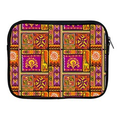 Traditional Africa Border Wallpaper Pattern Colored 3 Apple Ipad 2/3/4 Zipper Cases