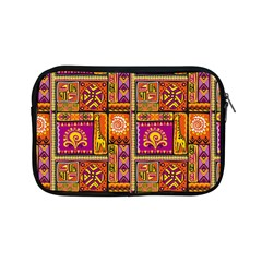 Traditional Africa Border Wallpaper Pattern Colored 3 Apple Ipad Mini Zipper Cases