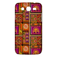 Traditional Africa Border Wallpaper Pattern Colored 3 Samsung Galaxy Mega 5 8 I9152 Hardshell Case  by EDDArt
