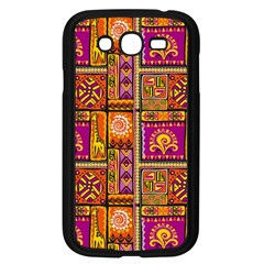 Traditional Africa Border Wallpaper Pattern Colored 3 Samsung Galaxy Grand Duos I9082 Case (black)