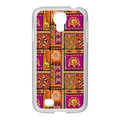 Traditional Africa Border Wallpaper Pattern Colored 3 Samsung Galaxy S4 I9500/ I9505 Case (white)