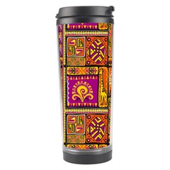 Traditional Africa Border Wallpaper Pattern Colored 3 Travel Tumbler