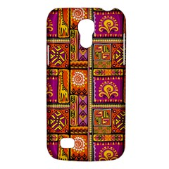 Traditional Africa Border Wallpaper Pattern Colored 3 Samsung Galaxy S4 Mini (gt I9190) Hardshell Case