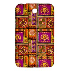 Traditional Africa Border Wallpaper Pattern Colored 3 Samsung Galaxy Tab 3 (7 ) P3200 Hardshell Case