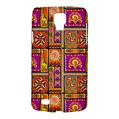 Traditional Africa Border Wallpaper Pattern Colored 3 Samsung Galaxy S4 Active (i9295) Hardshell Case